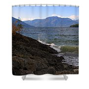 Waves On The Shore Shower Curtain