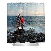 Waves Splash Children Shower Curtain