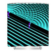 Waves Two Slit 4 Shower Curtain