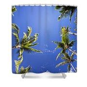 Waving Palm Trees Shower Curtain