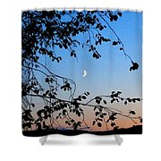Waxing Crescent Moon Shower Curtain