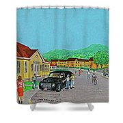 Wayne Hills 1948 Shower Curtain