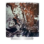 Weather Patterns Over Earth Shower Curtain