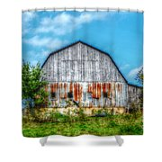 Weathered Barn Shower Curtain