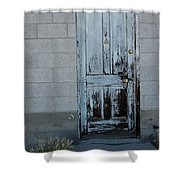 Weathered Door Virginia City Nevada Shower Curtain