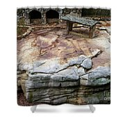 Weathered Stone Shower Curtain