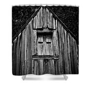 Weathered Structure - Bw Shower Curtain