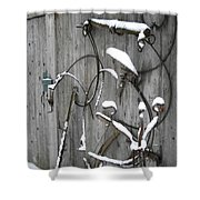 Weathered Tools Shower Curtain