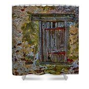 Weathered Vibrancy Shower Curtain