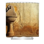 Weathered Water Faucet Shower Curtain