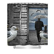 Weathering The Gulls Shower Curtain