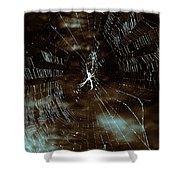 Web Glitter Shower Curtain