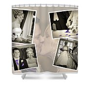 Wedding Album Page - Fine Art Shower Curtain