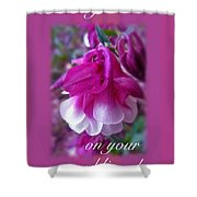Wedding Blessings Greeting Card - Columbine Blossom Shower Curtain