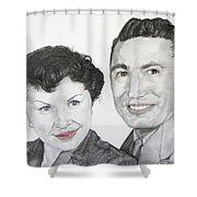 Wedding Day 1954 Shower Curtain