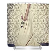 Wedding Dress Shower Curtain by Joana Kruse