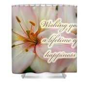 Wedding Happiness Greeting Card - Lilies Shower Curtain