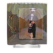 Wedding Portrait Shower Curtain
