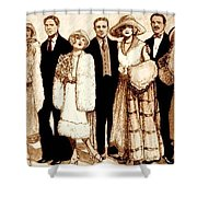 Wedding Sepia Shower Curtain