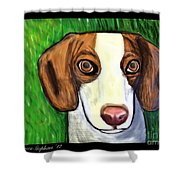 Wee Beagle Shower Curtain