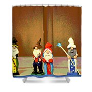 Wee Wooden People Shower Curtain
