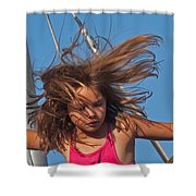Weightless Hair Shower Curtain