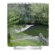 Weir Below Lover's Leap - Dovedale Shower Curtain