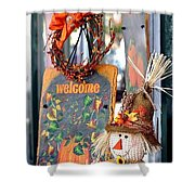 Welcome Fall Shower Curtain