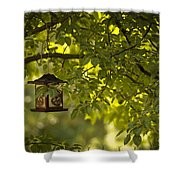 Welcome Feather Friends Shower Curtain