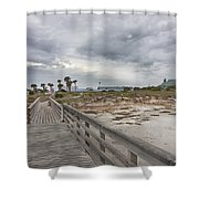 Welcome To Bald Head Island Shower Curtain