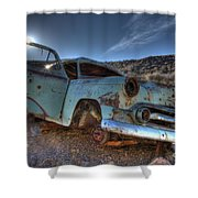 Welcome To Death Valley Shower Curtain by Bob Christopher