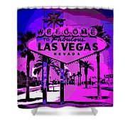 Welcome To Vegas No.2 Shower Curtain