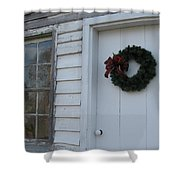 Welcoming Wreath  Shower Curtain