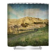 We'll Walk These Hills Together Shower Curtain