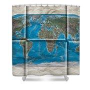 Well Worn World Shower Curtain