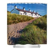 Welsh Cottages Shower Curtain by Adrian Evans