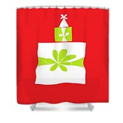 Welsh Merry Christmas Red Shower Curtain