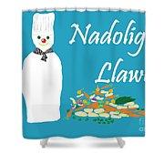 Welsh Snowman Chef Shower Curtain
