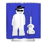 Welsh Snowman Musician Shower Curtain