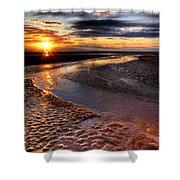Welsh Sunset Shower Curtain