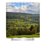 Wensleydale Near Westholme Bank In The Yorkshire Dales Shower Curtain