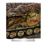 Wespe 105 Mm Self-propelled Gun Shower Curtain