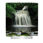 West Burton Falls In Wensleydale Shower Curtain