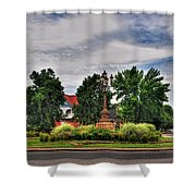 West Ferry Circle Shower Curtain