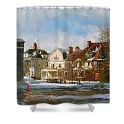 West Ferry Street Shower Curtain