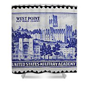 West Point Postage Stamp Shower Curtain