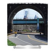West River Drive Philadelphia Shower Curtain