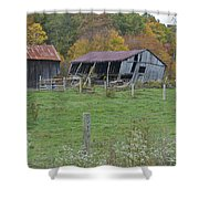 West Virginia Barn 3211 Shower Curtain