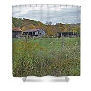 West Virginia Barn 3212 Shower Curtain