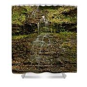 West Virginia Waterfall Shower Curtain